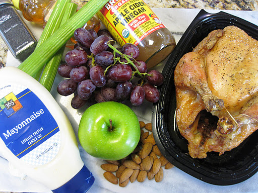 Rotisserie Chicken Salad With Grapes And Apple Snacking In The Kitchen