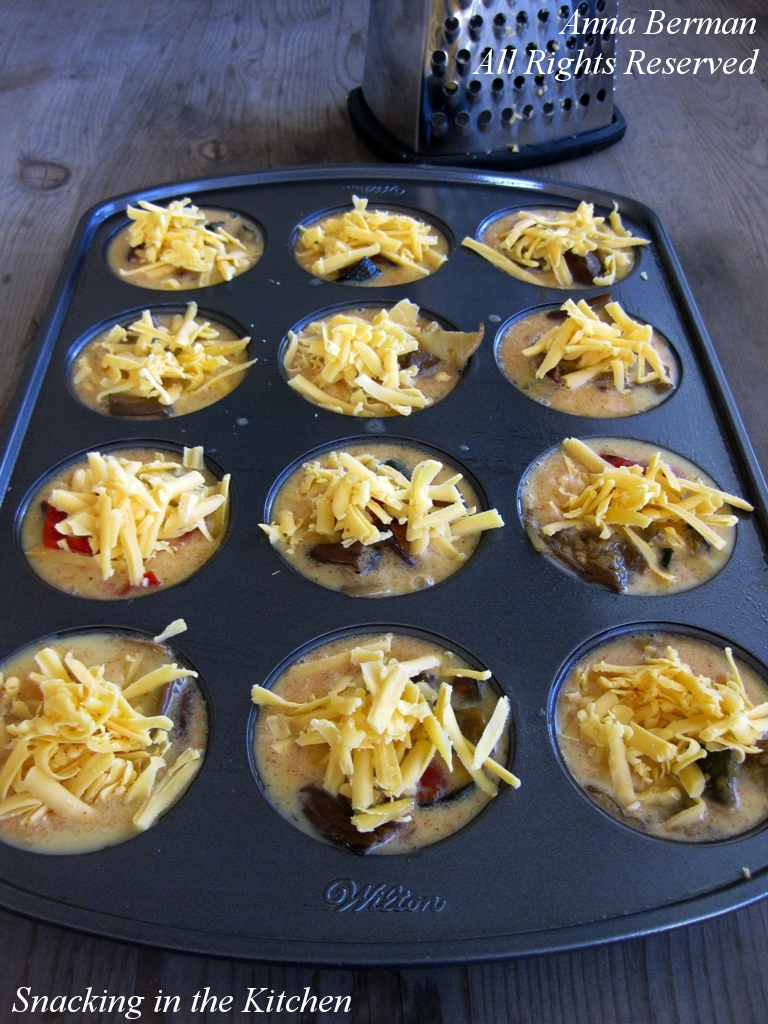 Individual Frittatas with Roasted Vegetables and Cheddar Cheese ...