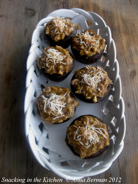 German Chocolate Cupcakes with Coffee and Toasted Coconut ...