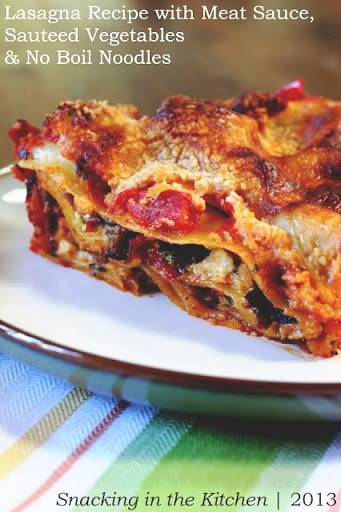 Lasagna Recipe: Meat Sauce, Sauteed Vegetables and No Boil Noodles ...