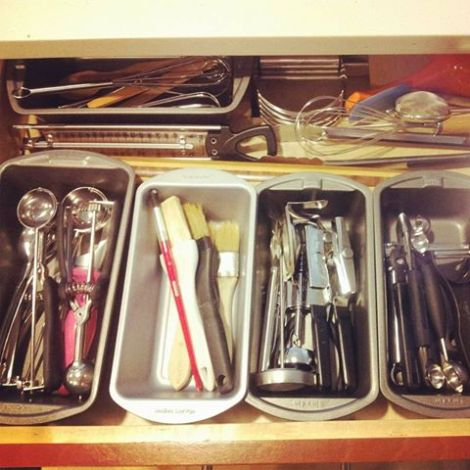 kitchen drawers organization