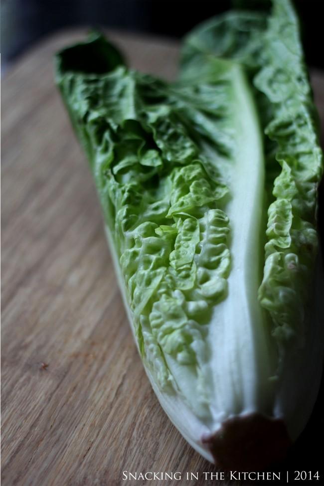 "Grilled"" Romaine Lettuce Salad"