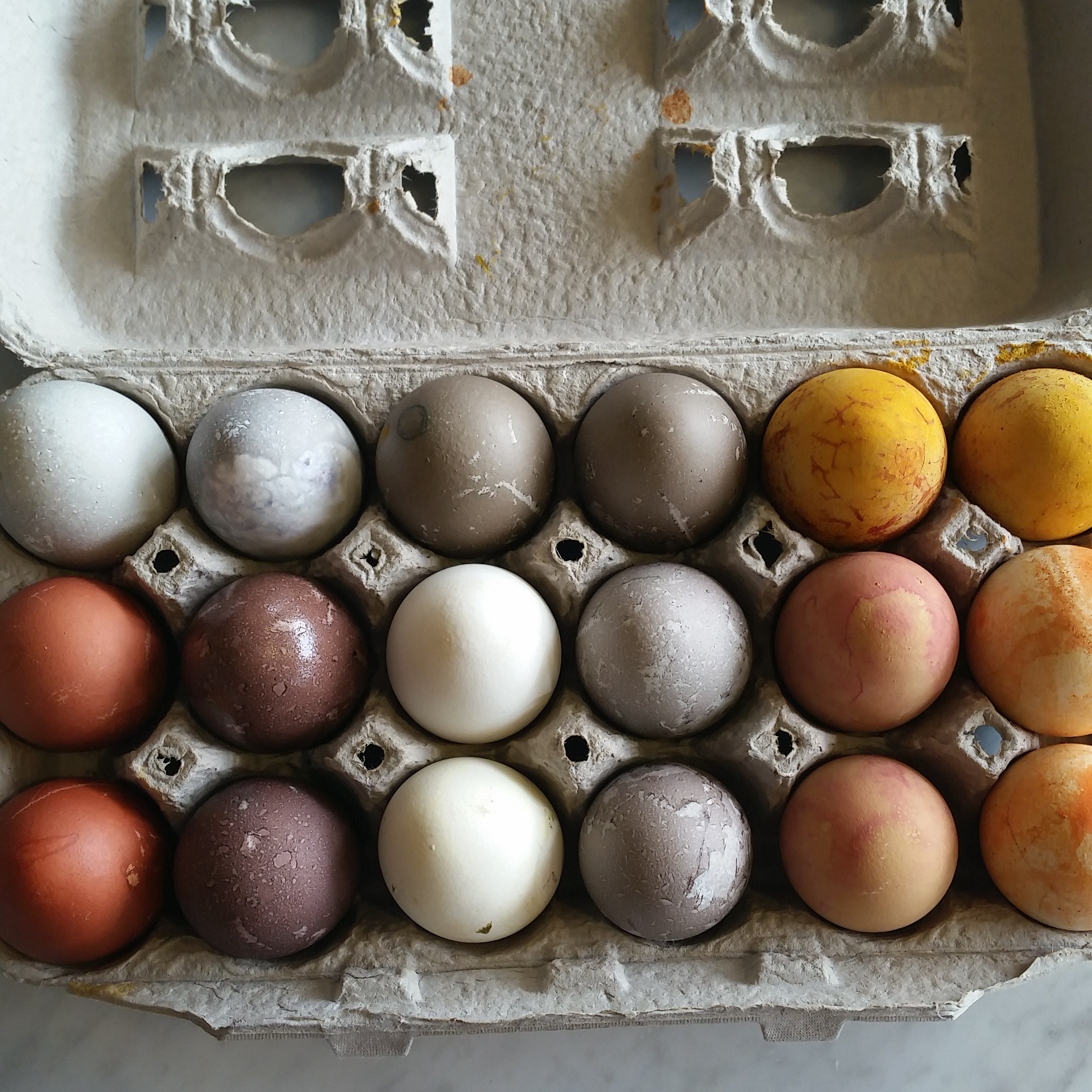 Naturally Dyed Easter Eggs Recipe — Dishmaps