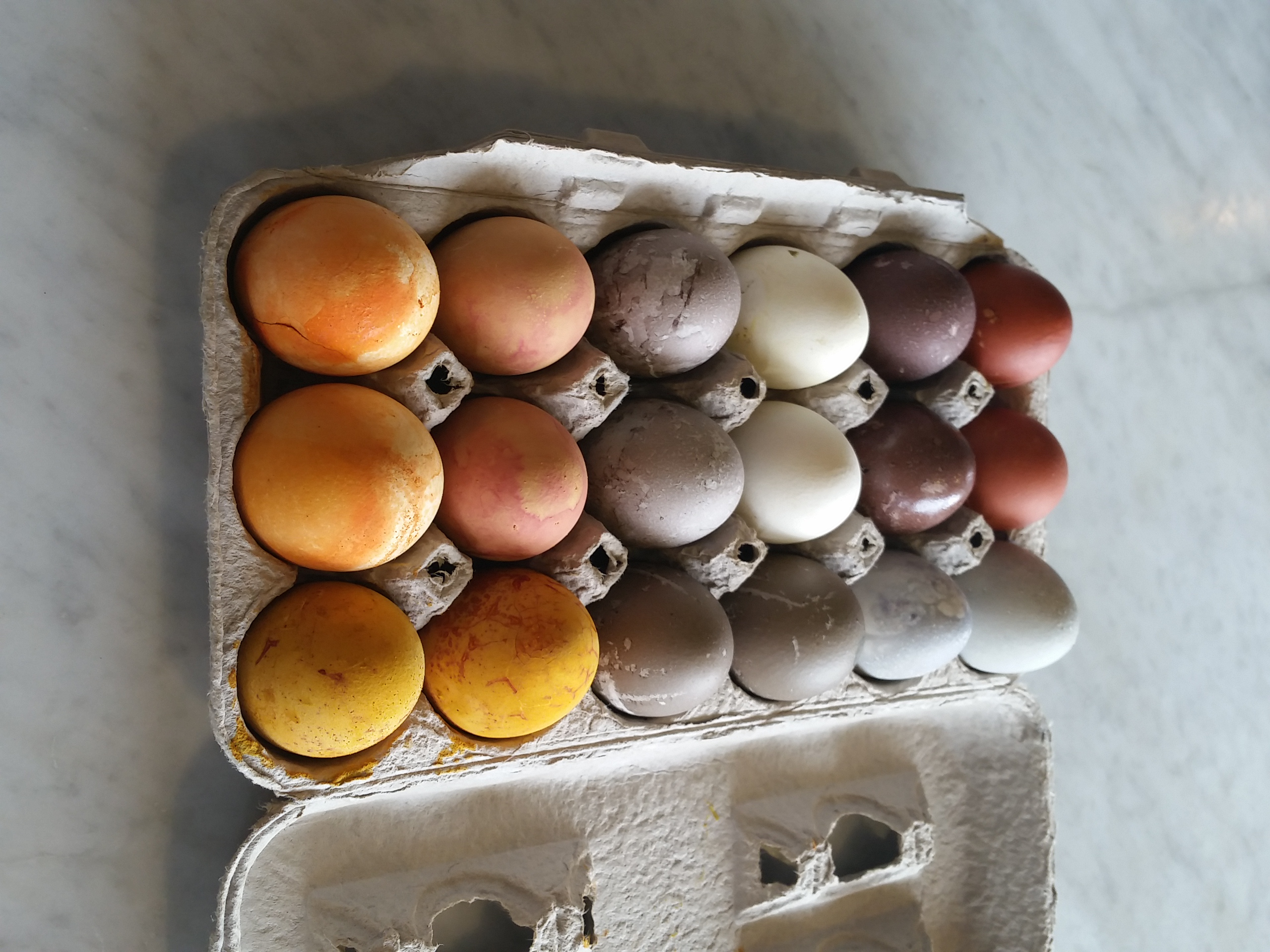 Naturally Dyed Easter Eggs ~ 50 Shades of Grey | Snacking in the ...